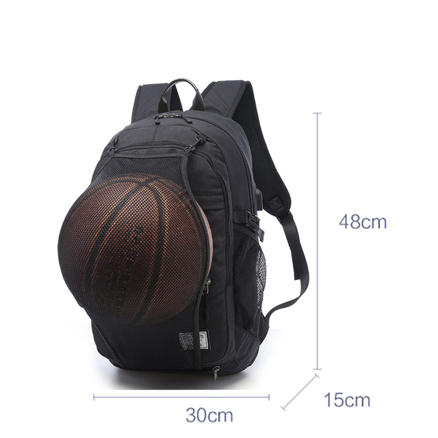 Sports Bag Black Outdoor Fitness Training Bag Basketball Backpack Man 15.6 Inch Laptop Schoolbag SportS Soccer Gym Bag pack Male 2