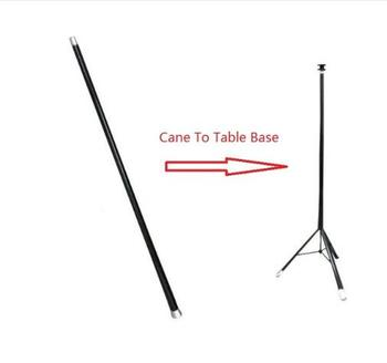 Cane to Table - Aluminum,Stage Magic Trick,Magic Accessories,Illusion,Can Used with Hat Table Magie Comedy,Gimmick Magicians