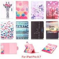 For Apple IPad Pro 9 7 Case Fashion Cartoon Pattern Folio PU Leather With Card Slot
