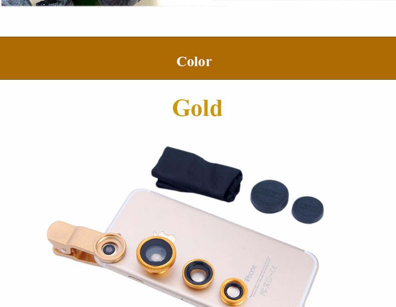 New Fish Eye lens,Wide Angle + Clear Macro Lens For Iphone 5s 6 7 Universal 3 in 1 Phone Camera Len For Sansung Huawei Sony HTC 18