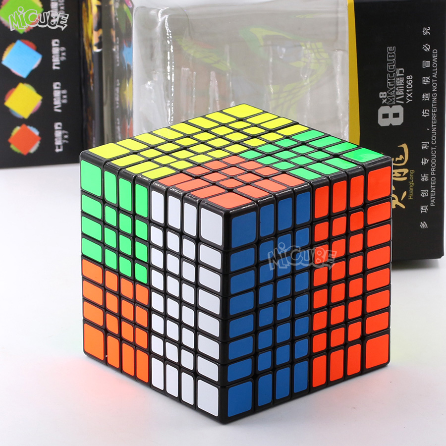 Zhisheng Yuxin Huanglong 8x8x8 Magico Cubo 8x8 Cube Puzzle Professional 8Layers 8*8 Cube Stickerless Black For Children Toys|Magic Cubes| |  - title=