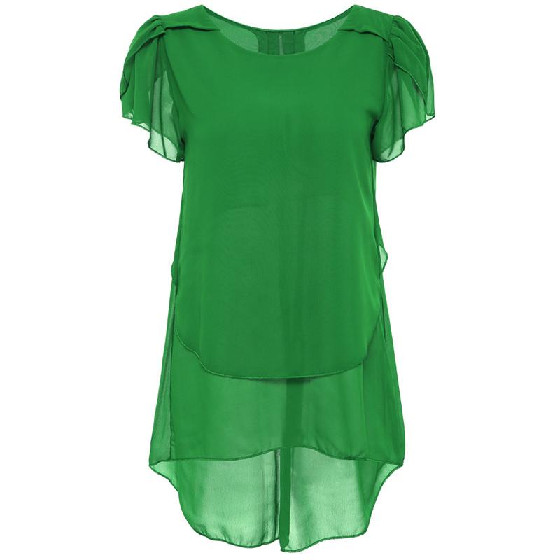 Õhuline must, sinine või roheline pluus