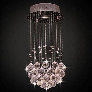 1 Licht Unterputz Moderne K9 Kristall Led Deckenleuchte Fr Wohnzimmer Lampe Leuchten GU10 Enthalten Lster De Sala Teto