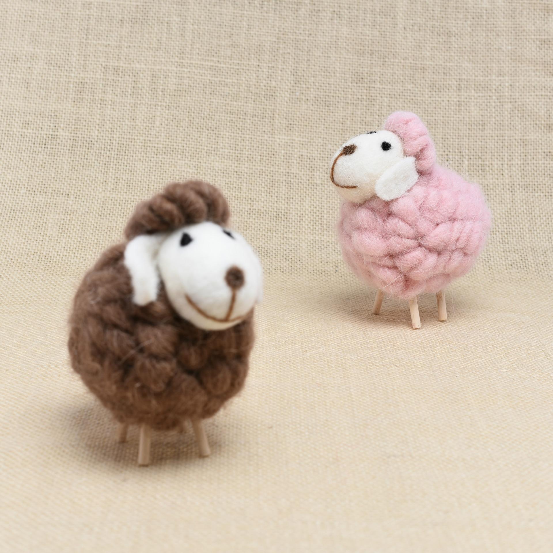 New Christmas Tree Decoration Cute Kids Plush Toys Sheep Christmas