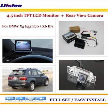Auto Camera For BMW X5 E53 E70 X6 E71 Car Reverse Rear View Camera 4.3 TFT LCD Monitor Parking System image