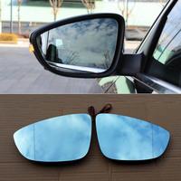 For Volkswagen Passat Car Rearview Mirror Wide Angle Hyperbola Blue Mirror Arrow LED Turning Signal Lights