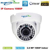 1920*1080 2.0MP IR 네트워크 IP 캠 1080 마력 HD CCTV 비디오 감시 돔 보안 IP 카메라 ONVIF 일/야간 실내 웹캠