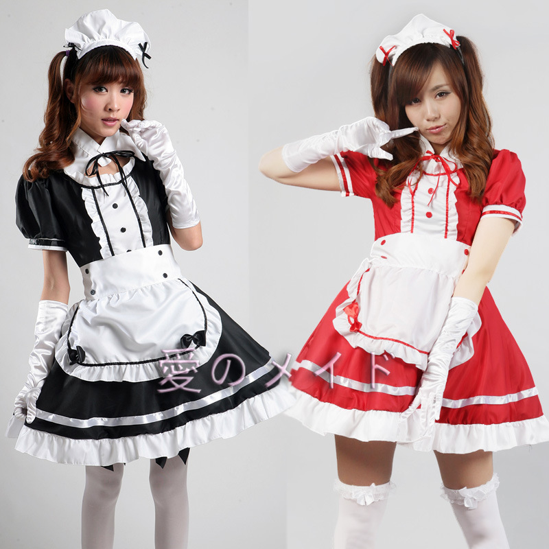 Free Shipping Servant Women Cosplay Black Party Halloween Lolita Fancy Dress Adult Women Sissy Maid Uniform Sexy French Maid Cos