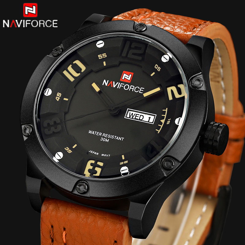2016 Luxury Brand Men Sports Watches Men's Quartz Date Clock Fashion Casual Leather Strap Army Military Wrist Watch Male Relogio weide new men quartz casual watch army military sports watch waterproof back light men watches alarm clock multiple time zone