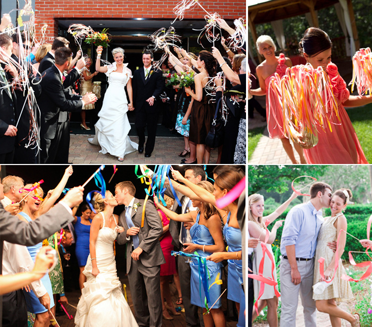 50pcs Wedding 2 Color Ribbon Wands Confetti Stream Sticks With 1 Bells Metal End In Banners Streamers From Home Garden On