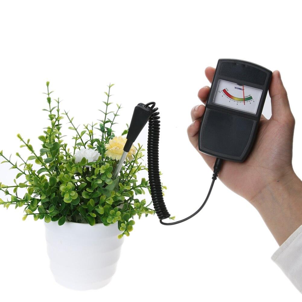 2.5-10.0pH Tester di pH del suolo Tester per piante Colture Fiori Acidità delle verdure Umidità PH Strumenti di giardino