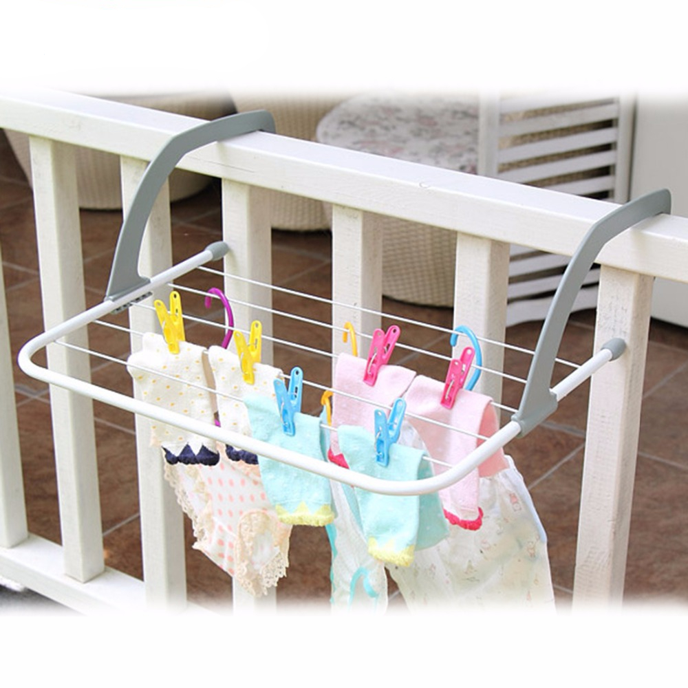 Multifunction Indoor & Outdoor Folding Clothes Rack Drying Laundry Hanger Dryer - White