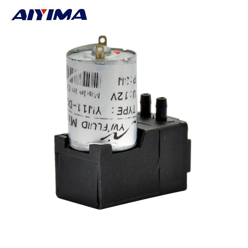 AIYIMA DC12V Motor Diaphragm Pump Water Oil Liquid ink Gas Sampling Vacuum Pump Negative Pressure Suction 180mL/min 10M 5pcs lot 5 0l pvf gas sampling bag with ptfe valve for corrosive gas or vocs sampling