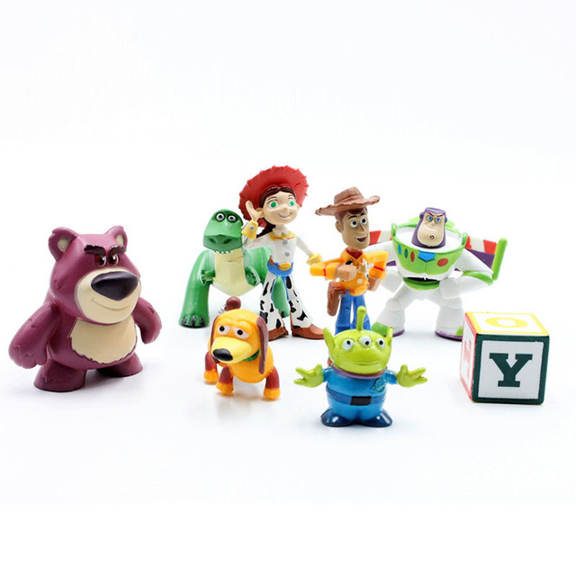 Disney Juguetes 8 unids lote 5-12 cm Toy Story 3 Buzz Lightyear Woody 0f73b94c218