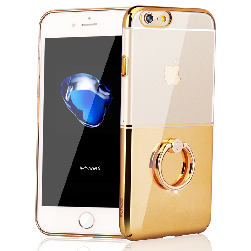 low priced cc6f4 ddff4 US $12.84 |Xundd Luxury case For iPhone 6 6s 360 Rotating Ring Holder Case  For iPhone 6s Plus Transparent PC Back case free shipping-in Fitted Cases  ...