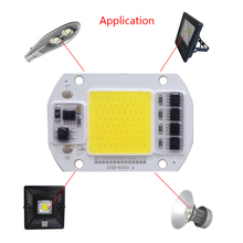 5PCS/lot COB LED Lamp Chip 30W 40W 50W Smart IC Driver light beads for diy Downlight Spotlight Floodlight