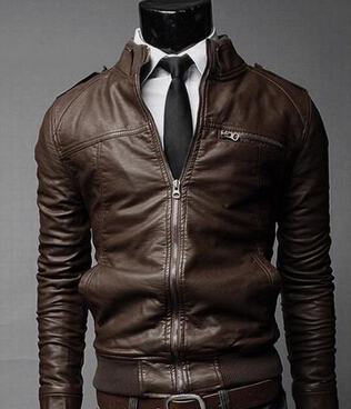Aliexpress.com : Buy Men's Leather Jacket Lapel Brand New Fall ...