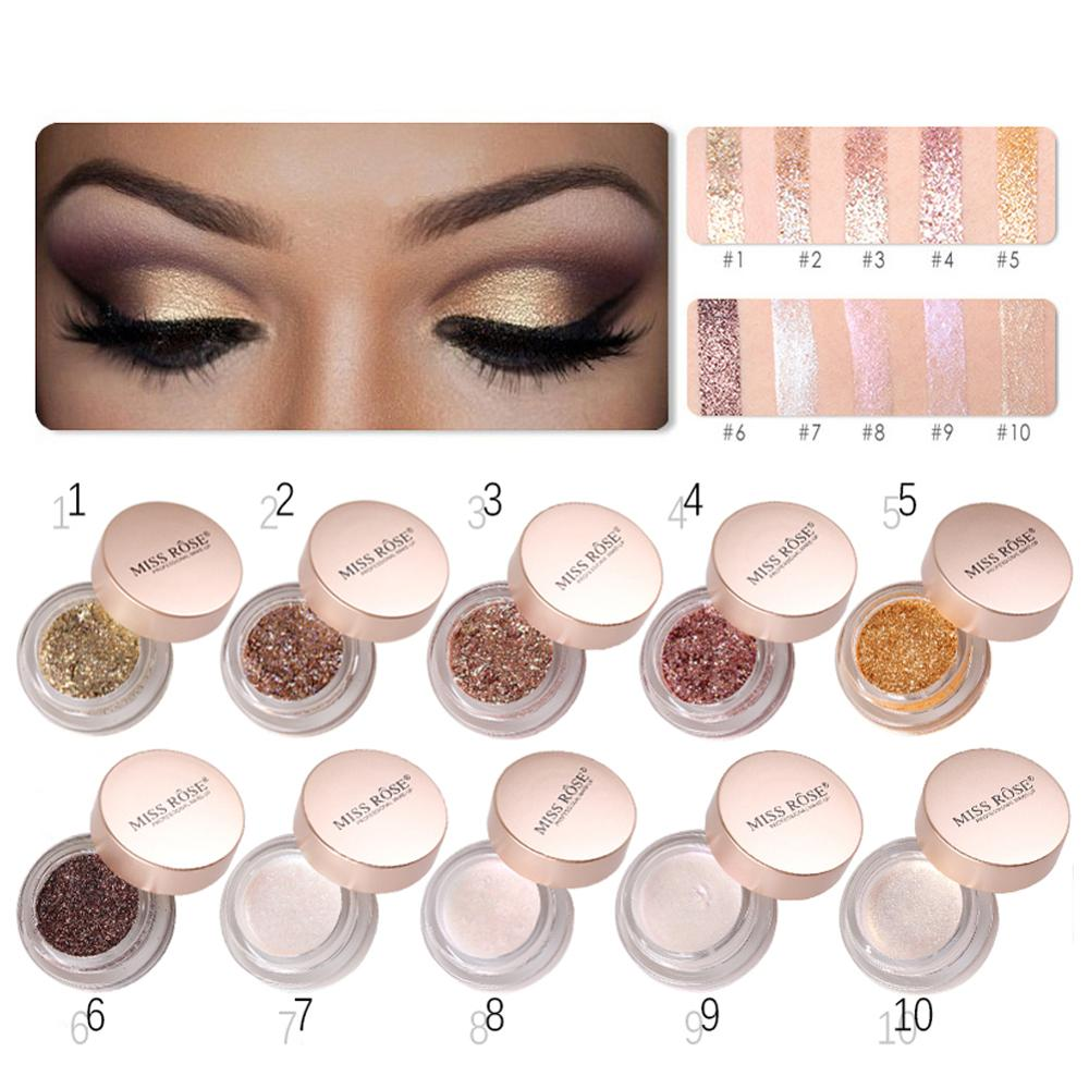 MISS ROSE Shimmer Sexy Eyes Makeup Eyeshadow Long-Lasting Eye shasdow Makeup Cosmetics 7Colors