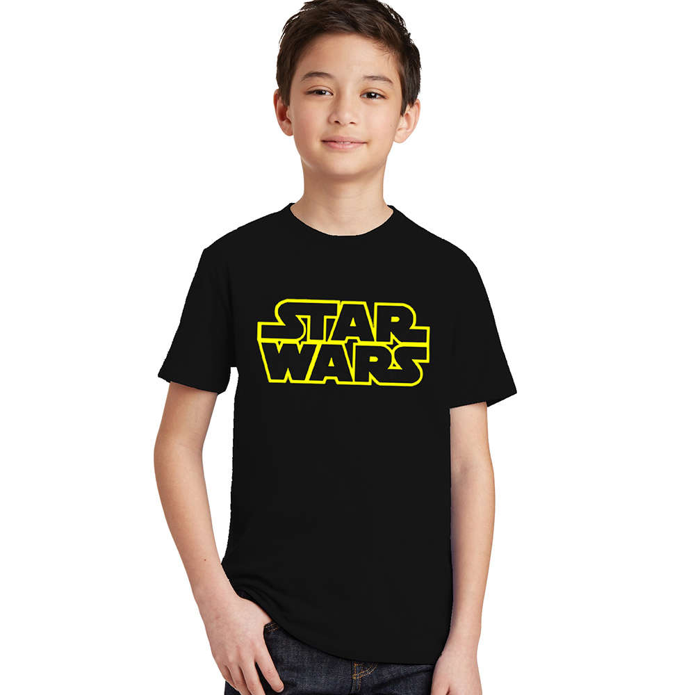 Kids Boys Girls Unisex T Shirt Marvel Star War Logo Print Tees Tops Fashion Summer T-shirt for Children 3 4 5 6 7 8 9 10 Years цена