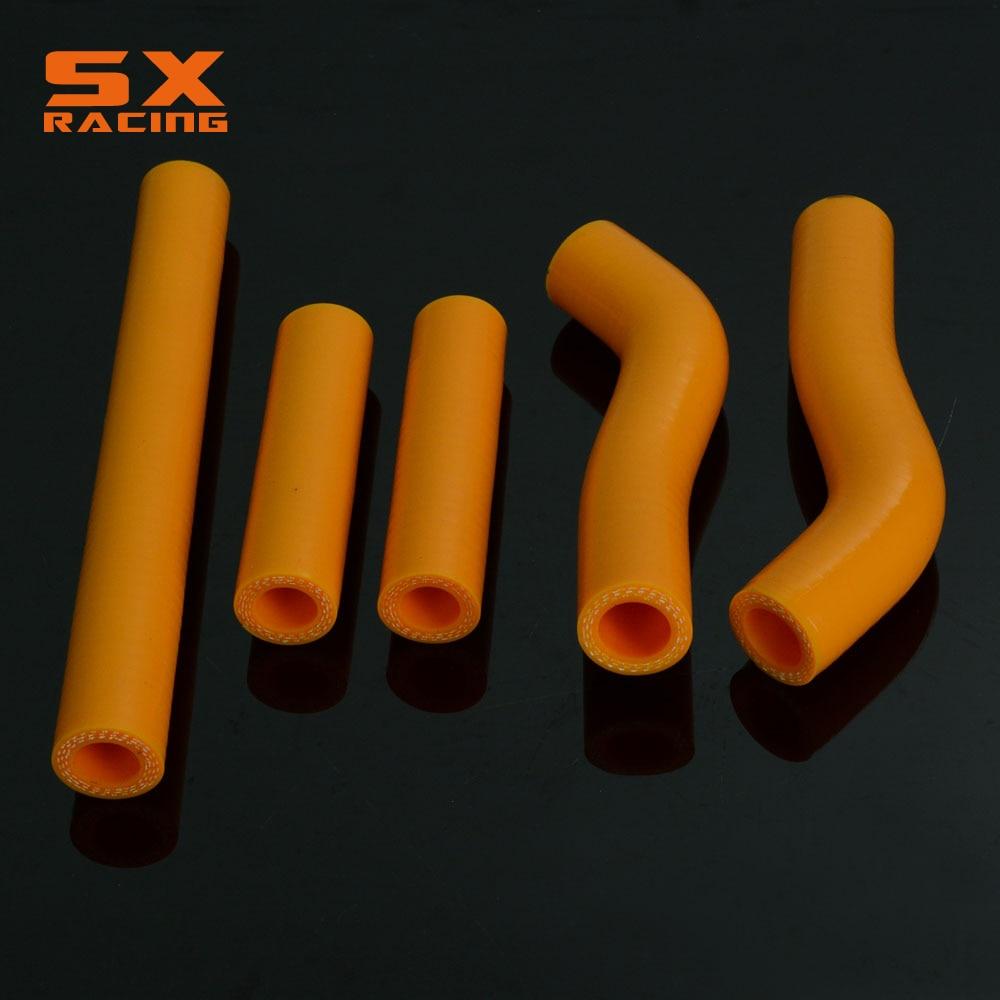 Motorcycle Orange Water Pipe Silicone Radiator Coolant Hose For KTM SXF250 SXF 250 2006 Motorcross Dirt Bike