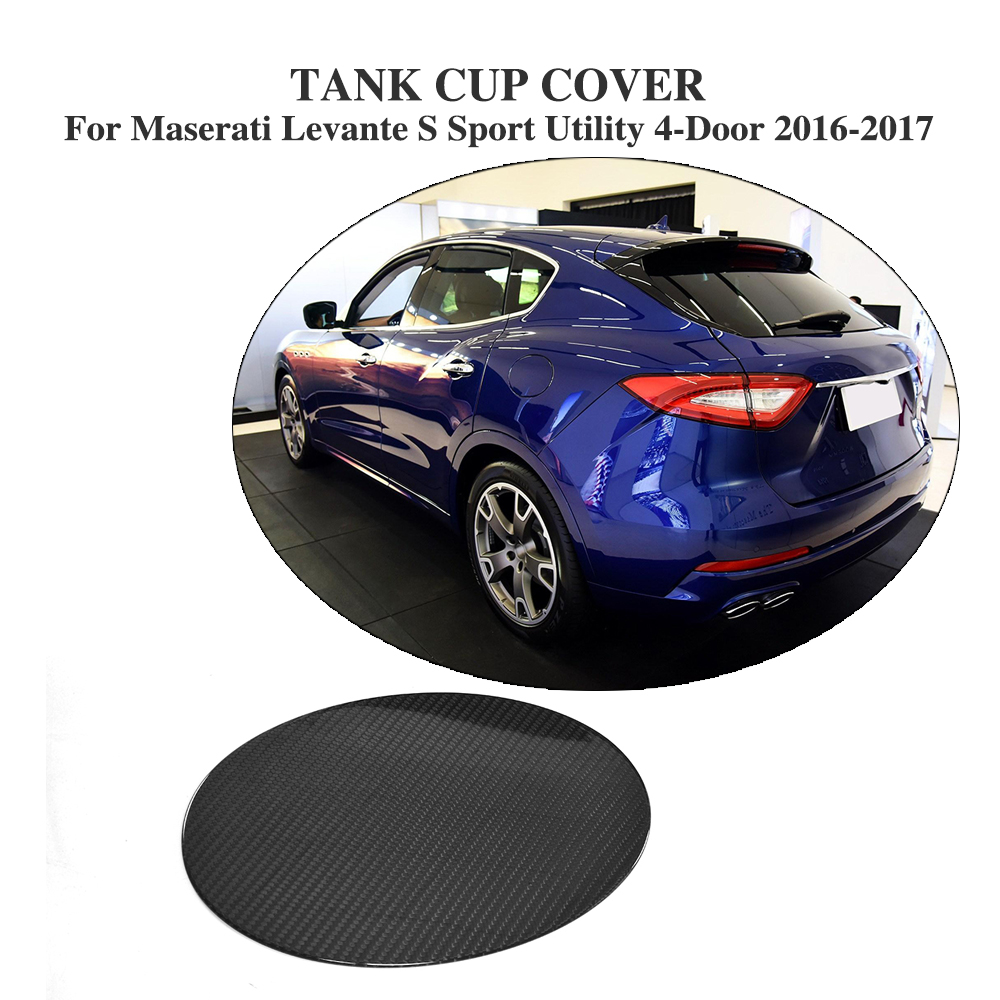 Carbon Fiber Oil Gas Fuel Tank Cap Protector Pad Cover Sticker for Maserati Levante S Sport Utility 4-Door 2016-2017 Car Styling