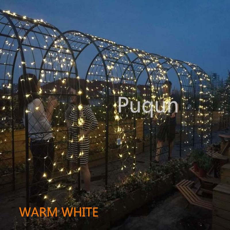 6M *4M no waterproof LED Net Mesh Fairy String Lights ice bar lamp for Twinkle Home Garden Christmas Party Wedding eu us plug 4 6m led net string light white warmwhite rgb blue twinkle lamp garland wedding party christmas decoration lights