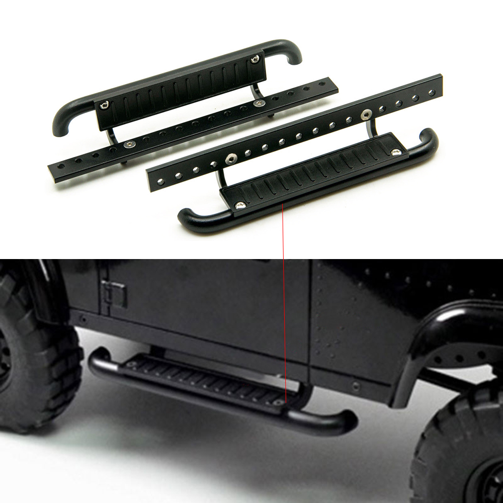 1Pair High Quality Metal Side Pedal Plate for 1 10 font b RC b font Rock