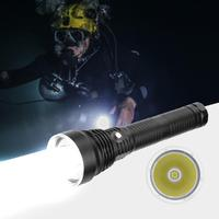 LED Electric Torch With IP65 Waterproof Supper Bright Underwater 80 Meter Diving Flashlight Aluminum Alloy
