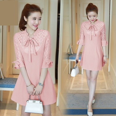 3ac113639d7 3xl plus big size women clothing 2017 spring summer style korean vestidos  thin pink black cute sweet party dress female A3263