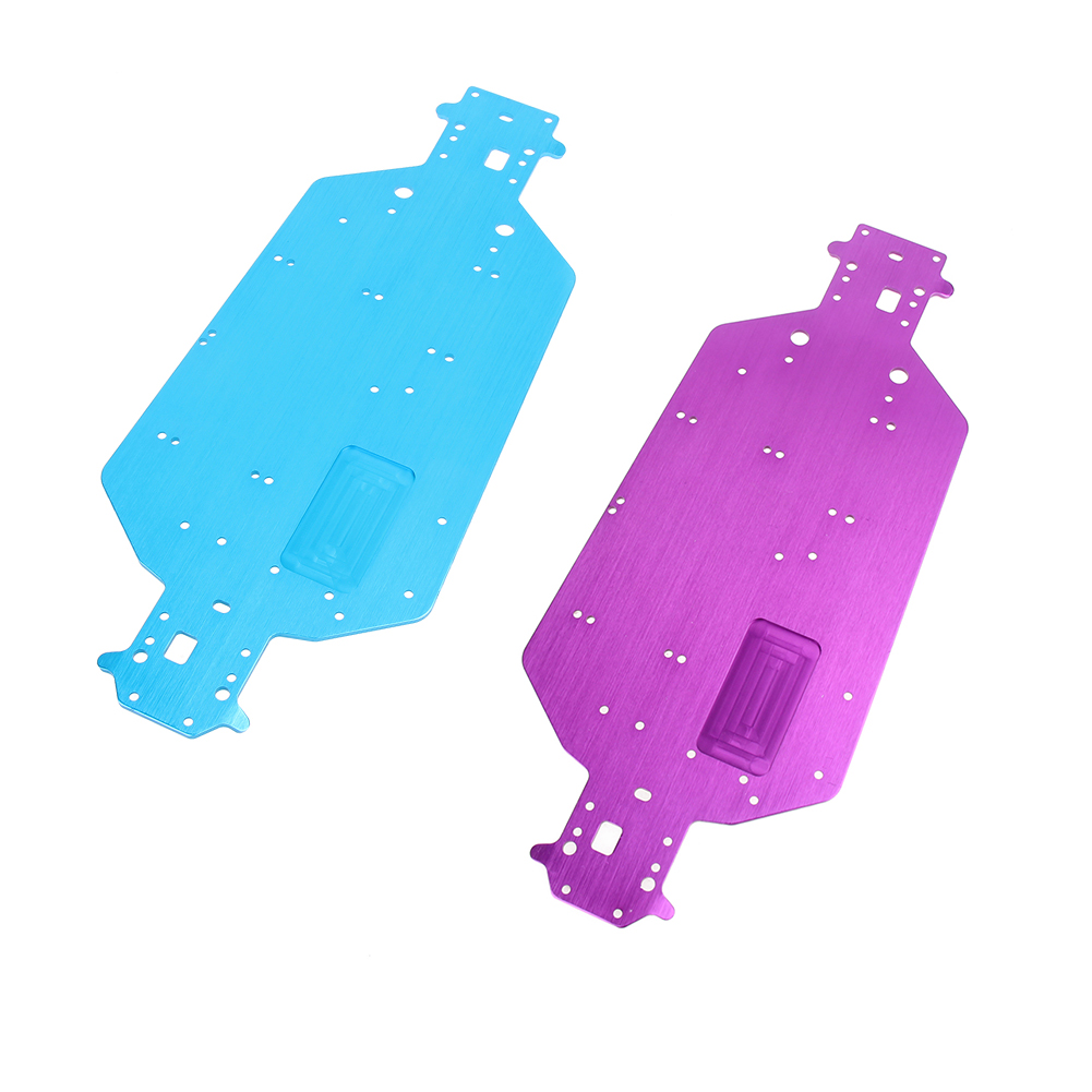 2 Colros Available Hot Pink/Blue Redcat HSP <font><b>04001</b></font> Aluminum Alloy Chassis for 1/10 Scale RC Car Models image