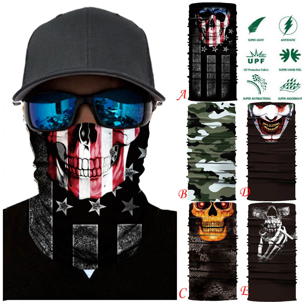2019# Motorcycle Face Mask Cycling Halloween Head Scarf Neck Warmer Skull Ski Balaclava Headband Scary Face Shield Mask Outdoor Automobiles & Motorcycles