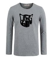 Idzn verano moda cool Wang Odd futuro cabeza de gato negro arte Camiseta de manga larga impresa gráficos camiseta
