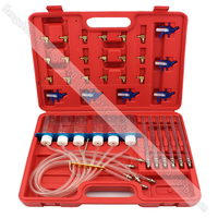 Diesel Common Rail Injector Flow Meter With 24 Adaptors Fuel Line Test Tester /Diagnosis Tool Set 6 injectors tested together