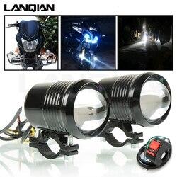 Reflektor motocyklowy lampa Led lampa pomocnicza U2 Led motocykl reflektory akcesoria Moto DRL przedni reflektor przeciwmgielny 30W 12V 1200 lm na