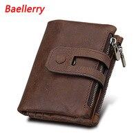 Baellerry 2018 Autumn New Arrival Genuine Leather Men S Wallet For Men Small Zipper Organizer Wallets