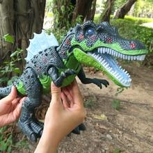 Высокое качество Горячая продажа большой размер ходьба Электрический динозавр Робот Игрушки с легкой прогулкой звуки модели игрушки развивающие игрушки для детей