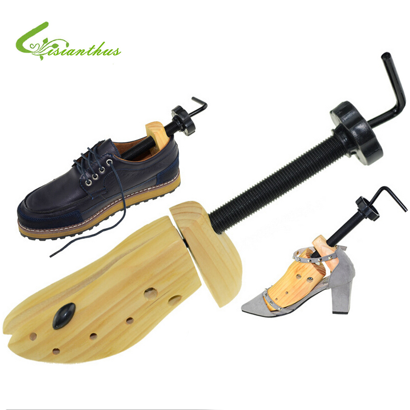 1pcs Portable Mini Shoes Stretchers Durable Solid Wood Width Extender Adjustable Shoe Tree Hot