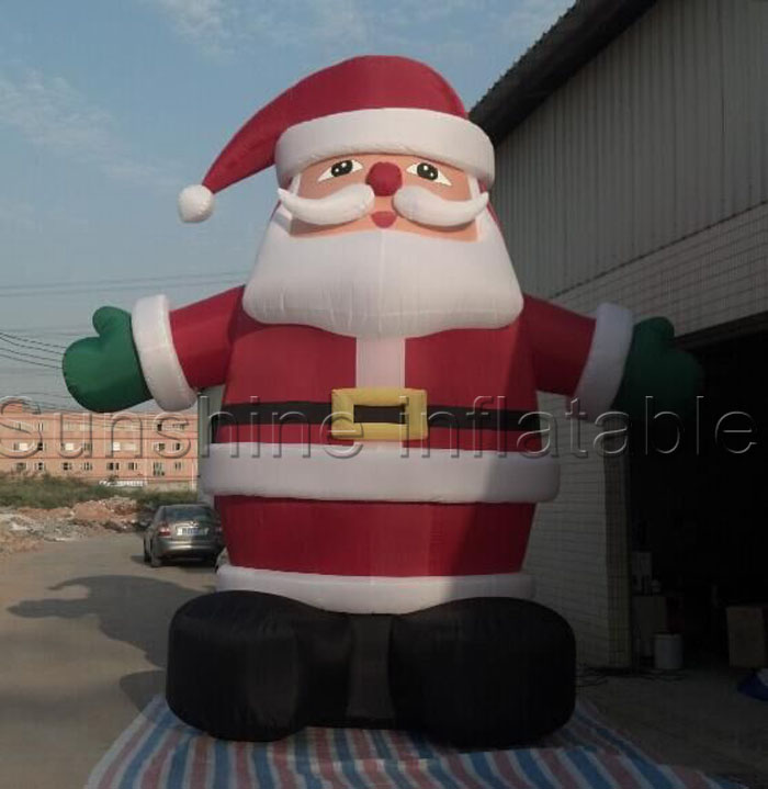 hot sale inflatable christmaslowes christmas inflatablesinflatable santa claus decorations in ball ornaments from home garden on aliexpresscom