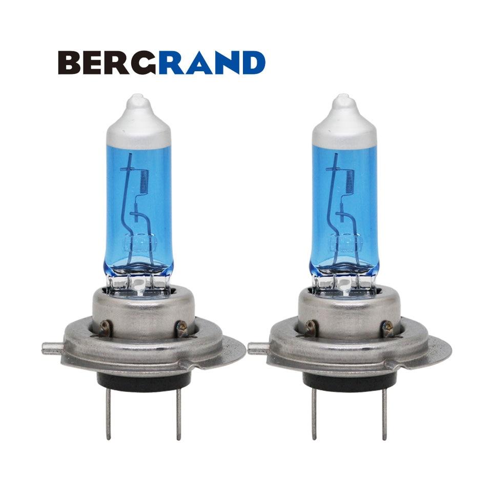 H7 Halogen Lamp 12V 55W 4300K Xenon Car Lamp Head Light Fog Light Bulb Super White Quartz Glass For Ford Focus 2 2PCS