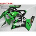 Injection fairing kit for Kawasaki ZX6R 2003 2004 Ninja 636 green black customize fairings set 03 04 ZX-6R body kits ZK59