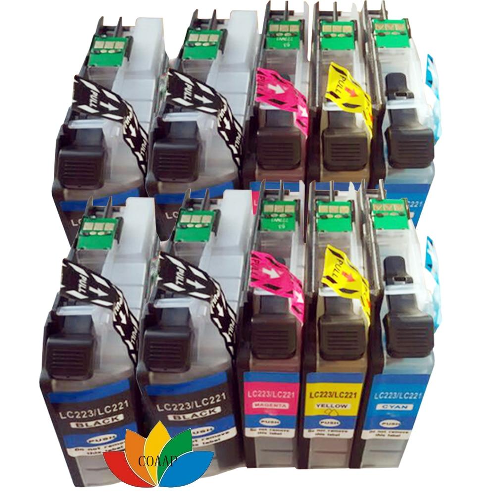 Cartuchos de Tinta 10 cartucho de tinta compatível Lc221bk/lc221c/lc221m/lc221y : Lc223 / Lc221