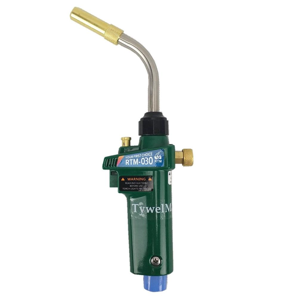 Mapp Torch Braze Welding MAPP Propane Gas Gun Heater Burner w Self Ignition CGA600 for Copper