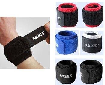 Recommend! 2pcs/lot Adjustable Sport Wristband Wrist Brace Wrap Bandage Support