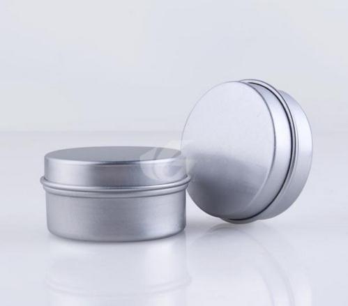 Free shipping wholesale 10g aluminum cream jar lip gloss tin metal box (no thread) free shipping