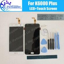 Oukitel K6000 בתוספת LCD תצוגה + מגע מסך 100% המקורי LCD Digitizer זכוכית לוח החלפה עבור K6000 בתוספת NSB55012A01 V00