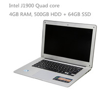 14inch ultrabook laptop computer 4GB RAM 500GB + 64GB SSD Windows 10 ultrathin notebook PC