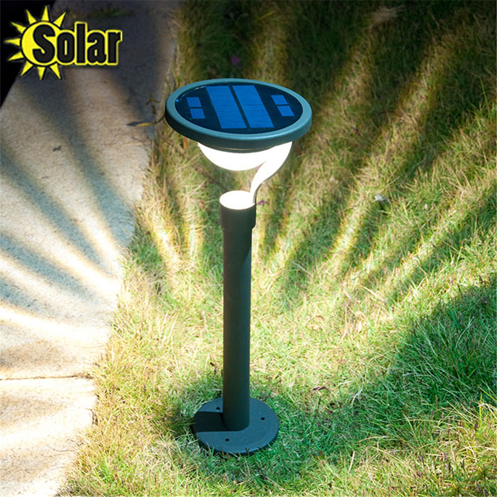 2015 Hot Selling Aluminum Outdoor Pathway Solar Powered Waterproof LED Lamp 1W Garden Yard Lawn Pool Decorative Light brd technology solar powered 4 led spotlight outdoor waterproof garden 1 5w led bright white light lamp for outdoor landscape garden driveway pathway yard lawn house tree etc solar energy exterior lighting auto on at night and auto off by day