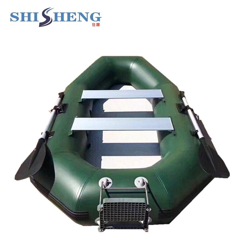 Petit bateau de pêche populaire gris/vert canot de pêche de bonne qualité bateau à voile en pvc avec des sièges pour une ou deux personnes - 4