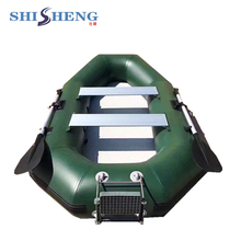 Popular small boat fishing grey/green dinghy fishing boat good quality pvc sailing boat with seats for one or two persons