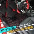 Para Ford Mustang 2016 bordado de cuero estera especial modificado automóvil interior rodeado de pad